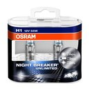Osram NIGHT BREAKER® UNLIMITED  H1, Halogen 12V, DUOBOX -...