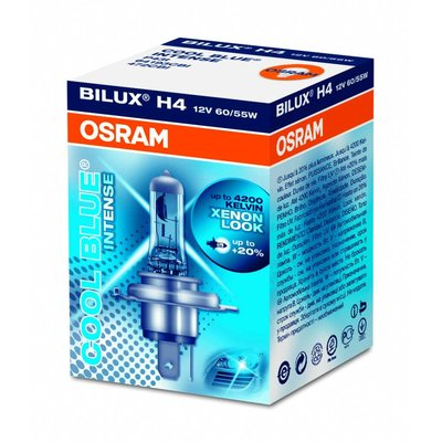 Osram COOL BLUE® INTENSE H4, Halogen 12V, 1er Faltschachtel - 64193CBI