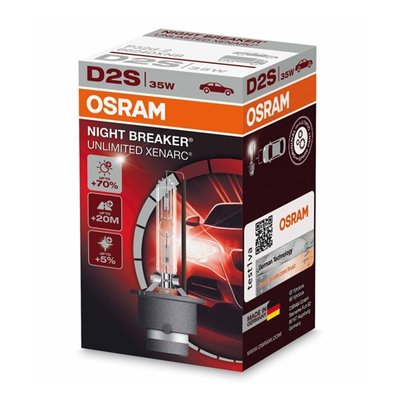 Osram XENARC® NIGHT BREAKER® UNLIMITED  D2S, Xenon xV, 1er Faltschachtel - 66240XNB