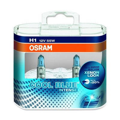 Osram COOL BLUE® INTENSE H1, Halogen 12V, DUOBOX - 64150CBI-HCB