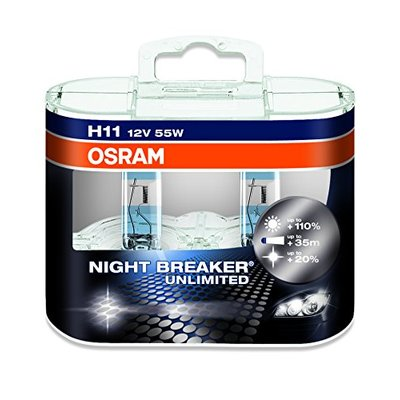 Osram NIGHT BREAKER® UNLIMITED  H11, Halogen 12V, Doppelbox- 64211NBU