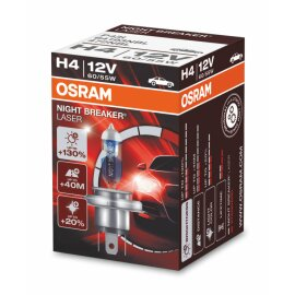 Osram NIGHT BREAKER® LASER H4, Halogen 12V, 1er...