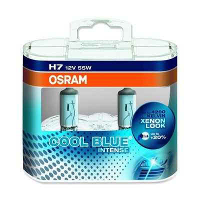 Osram COOL BLUE® INTENSE H7, Halogen 12V, DUOBOX - 64210CBI-HCB