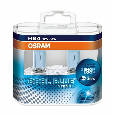 Osram COOL BLUE® INTENSE HB4, Halogen 12V, DUOBOX - 9006CBI-HCB